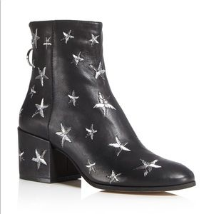 DOLCE VITA Matteo Star Embroidered Leather Booties